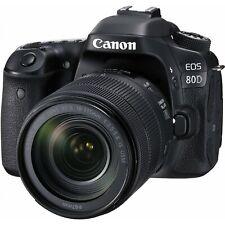 Canon EOS 80D 24.2MP Digital SLR Camera Kit - Black (w/EF-S 18-135mm Lens) & Box