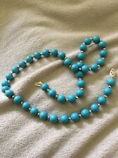 Gemstone necklace with turquoise and gold