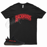 Black BACKWOODS T Shirt match Yeezy Boost v2 Bred 11 Fire Gym Red 4 Flu Game 12