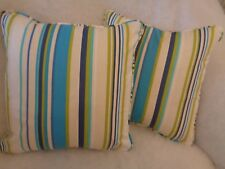 "RUSH BY HARLEQUIN 1 PAIR OF 18"" CUSHION COVERS - DOUBLE SIDED & PIPED!"