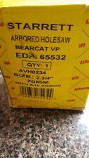 "Starrett #65532  Arbored Hole Saw 2 3/4""  70mm Bear Cat"