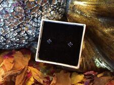 BARGAIN! Natural Royal Blue Sapphire 3mm facet sterling silver stud earrings 💠