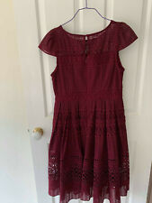 Burgundy St Petersburg Review Dress. Size 12. Good Condition.