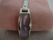 Ladies/Women's French Connection/FCUK Watch-Rectangle Lilac Face - Link Bracelet