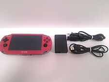 PlayStation PS Vita Wi-Fi game Console Red PCH-1000 ZA03 Japan region free