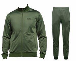 Emporio Armani 8NPV71 PJ08Z Mens EA7 Full Zip Tracksuit Green Jogsuit
