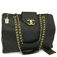 CHANEL Super Model Bicolore Quilted Lambskin Large Shoulder Tote Bag/ /b421