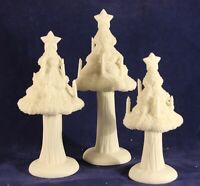 """Snowbabies """"Candlelight Trees"""" Bisque Porcelain Figurine. In Box"""
