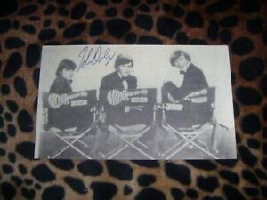 The Monkees POSTCARDS HAND SIGNED by MICKY DOLENZ
