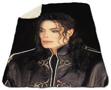 """Michael Jackson Winter Blanket 60"""" x 80"""" Queen Size NEW Fleece Warm Dangerous"""