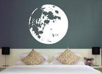 Vollmond Himmel Mond Schlafzimmer Nacht Deko Wohnzimmer Wandaufkleber WandTattoo