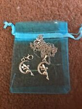 TIBETAN SILVER TINKERBELL NECKLACE AND CLIP ON CHARM FOR  BRACELET, ZIP OR PURSE