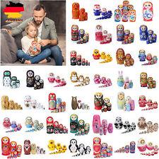 Verschiedene russische Matroschka Nesting Doll Mädchen Linde handgemalt Dekor