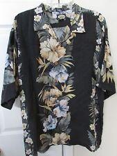 Tommy Bahama Hawaiian Shirt Large 100% Rayon EUC