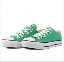 Women Lady ALL STARs Chuck Taylor Ox Low Top classic Canvas Sneakers US7 GREEN