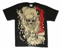 Metallica Scales Stain Pushead All Over Print Black T Shirt New Official