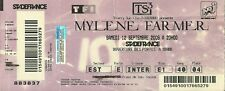 RARE / TICKET BILLET CONCERT - MYLENE FARMER : LIVE A PARIS STADE DE FRANCE 2009