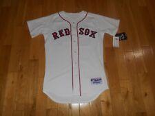 Majestic DAVID ORTIZ White BOSTON RED SOX #34 Mens AUTHENTIC MLB Team JERSEY 40