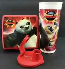 Tupperware Kids Kung Fu Panda 2 Movie Lunch Set Sandwich Keeper & Tumbler New
