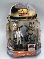 Hasbro Disney Star Wars Rebels Ezra Bridger Cadet & Kanan Jarrus NEW 2014 Moc