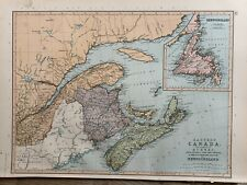1891 CENTRAL CANADA, MANITOBA etc. COLOUR MAP BY W.G. BLACKIE 129 YEARS OLD