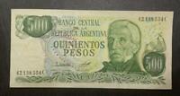 ARGENTINA  BANKNOTE 500 Pesos AU P. 303a Bot 2428 C646.d 1979