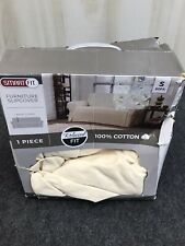 New in Box Smart Fit Parker Sofa Slipcover Ivory J09