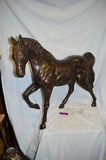 Sehr großes Bronze-Pferd, England, braune Antikpatina, 87cm