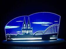 3D LED Arc Lumineux Verre acrylique Arches avec Bois CATHÉDRALE DE COLOGNE