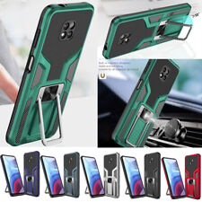 For Motorola Moto G Power/G Play 2021 Magnetic Ring Stand Armor Phone Case Cover