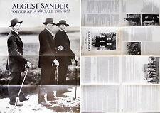 August Sander Fotografia sociale 1906-1952 Manifesto-catalogo 1979 Roma