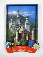 Schloss Neuschwanstein Castle Füssen Holz Souvenir Magnet,Germany Deutschland