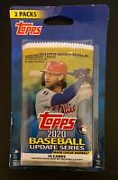 2020 Topps Baseball Update Series - 2 Packs - Factory Sealed Pack Set - 32 Cards
