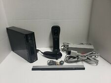 Nintendo Wii Black Console RVL-001 Game Cube Compatible Bundle complete!