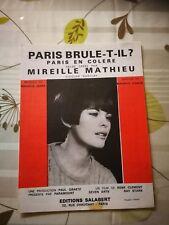 """Partition  """" Paris brule-t-il ? """"  Mireille Mathieu"""