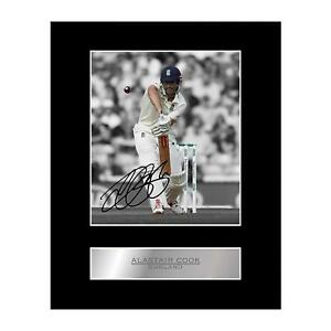 Alastair Cook Signed Mounted Photo Display England Cricket #1 Sport