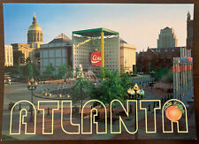 Postcard 1996 Atlanta Olympics The World of Coca Cola Underground sponsor 4x6 in