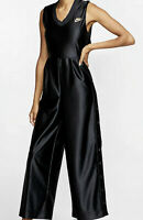 WOMENS NIKE SPORTSWEAR ICON CLASH JUMPSUIT RETRO SHINE BLACK BV3004-010 UK L