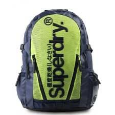 SUPERDRY Mesh Tarp Backpack - Dark Navy/Lime Schoolbag M91022DQ-JRA