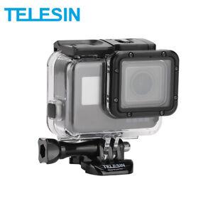 TELESIN 45M Underwater Housing Case + Touchable Cover for Gopro Hero 5 6 7 Black