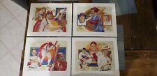 """1983 Philadelphia Phillies Perez Steele Galleries 4 Print Lot 10""""x12"""""""