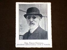 Generale Emilio Castelli Presidente dell'Assistenza civile a Venezia