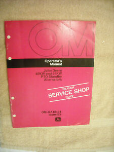 John Deere Operators Manual 9250A, 9450, 9550 Backhoes OM-T73799  Issuse I1