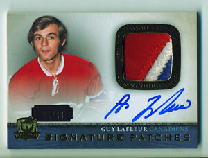 2013-14 Upper Deck The Cup Signature 11 /99 Guy Lafleur #SP-GL Patch Auto HOF