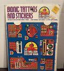 Vintage The Six Million Dollar Man Bionic  Tattoos & Stickers
