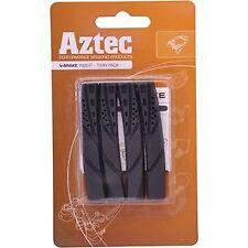 Aztec V-type insert brake blocks standard, pack of 2 pairs charcoal