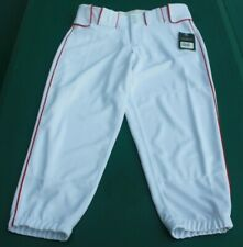 Boombah Men's Baseball Softball Pants White Red Stripe Size 30 New With Tag.