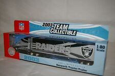 """2003 OAKLAND RAIDERS Die cast Truck Trailer Collectibles 9 1/2 x 2"""" Scale 1:80"""
