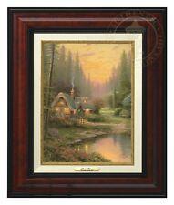 Thomas Kinkade Meadowood Cottage 12 x 9 Canvas Classic (Burl Frame)