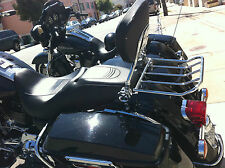 NEW 2point docking Hardware kit+ backrest sissy bar w/rack for HD Touring 09-13